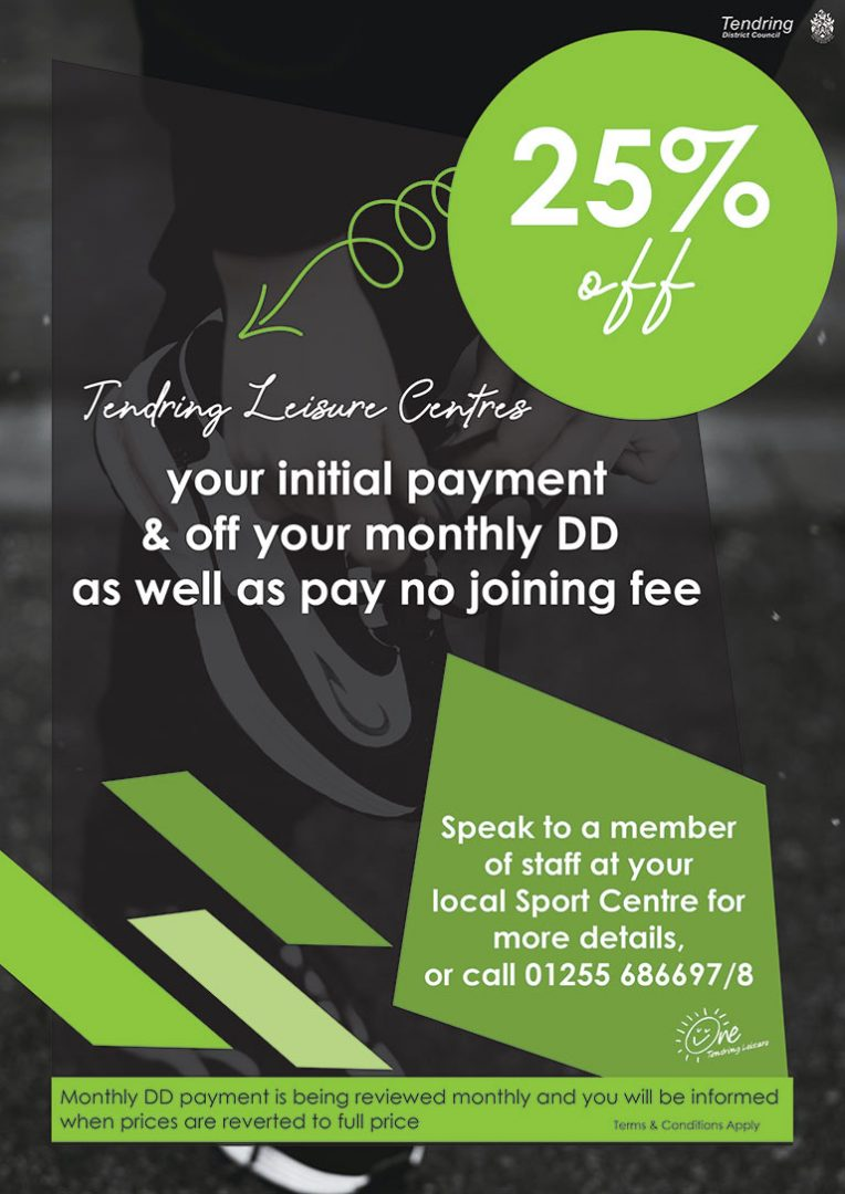 Tendring Leisure Centres - 25% Offer