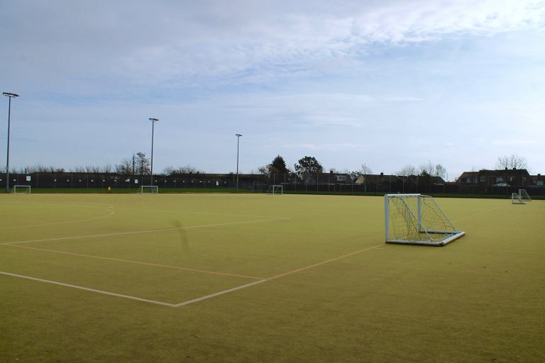 An all-weather astro-tuft football pitch