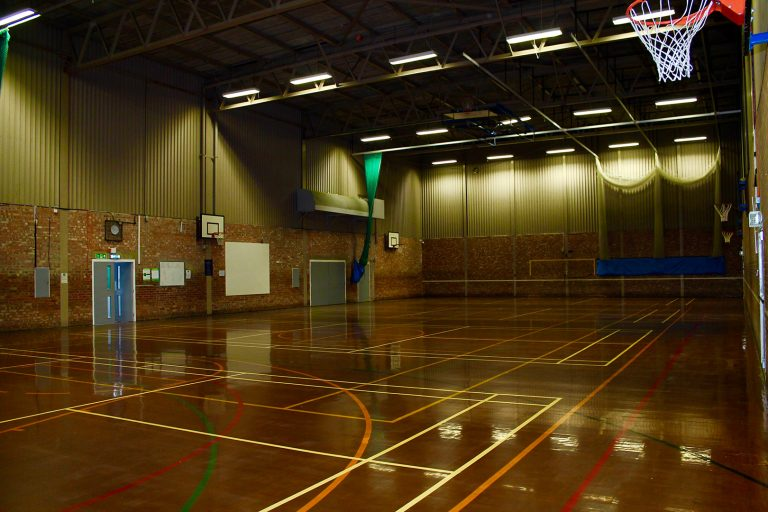 An indoor sports hall