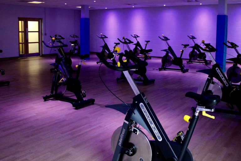 Spinning machines in a spin studio