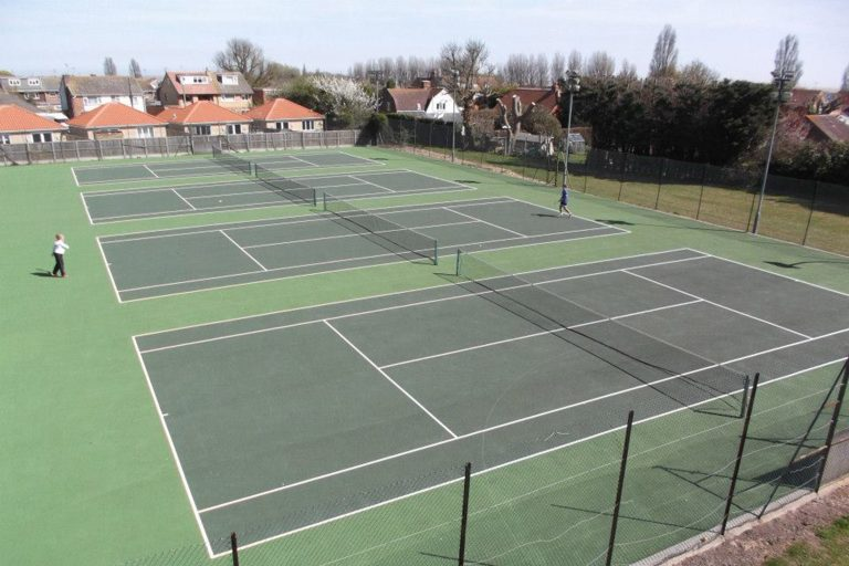 Outdoor tennis hard courts