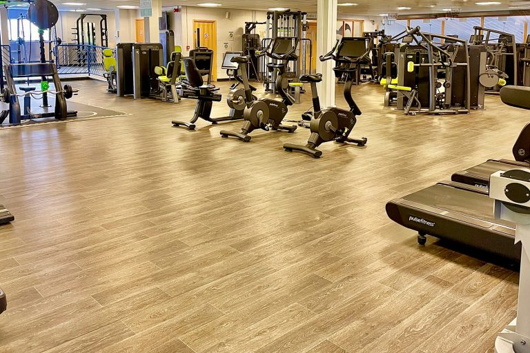 A range of gym equipment in a gym studio